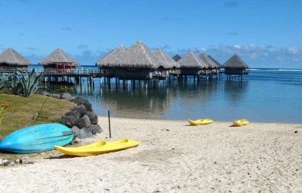 Plage de l'Hôtel Le Méridien à Tahiti