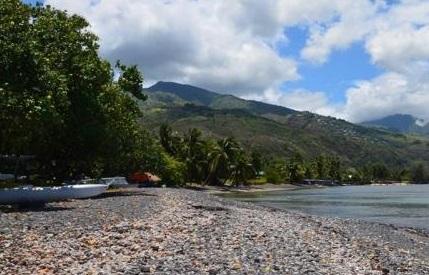 Plage de la pointe des pêcheurs à Tahiti