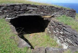 maisons en pierre Orongo Île de Pâques