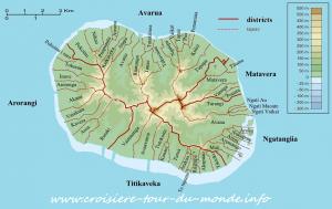 Découpage coutumier de Rarotonga aux îles Cook