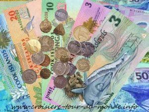 La monnaie à Rarotonga aux Îles Cook
