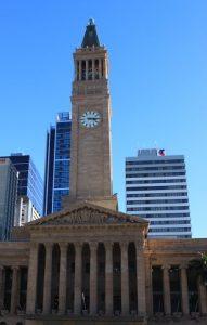 La tour de l'hôtel de ville de Brisbane