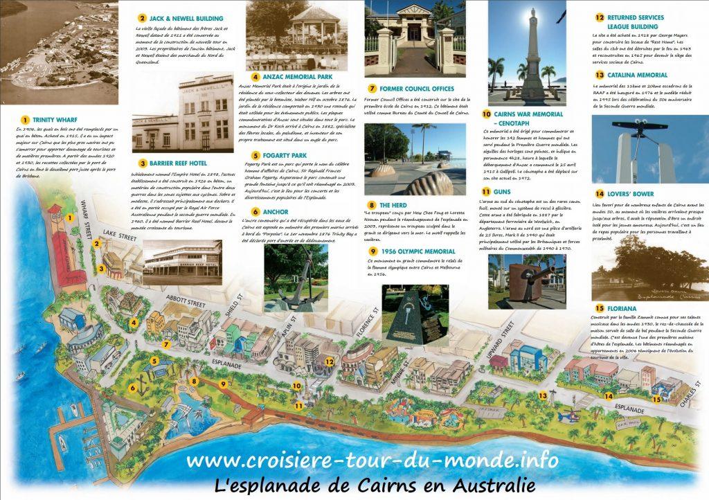 Les centres d'intérêts de l'esplanade de Cairns en Australie
