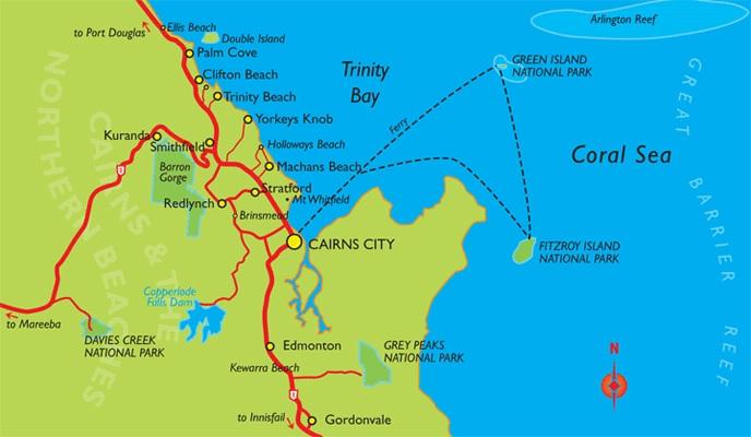 Les ferrys depuis Cairns en Australie