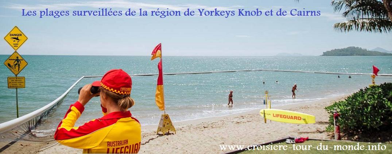 Les plages surveillées de Yorkeys Knob et Cairns en Australie