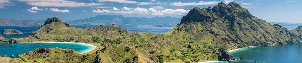 Panorama de l'Île Komodo en Indonésie