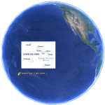 Position Rarotonga aux îles Cook