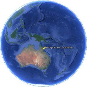 Situation géographique de Yorkeys Knob en Australie
