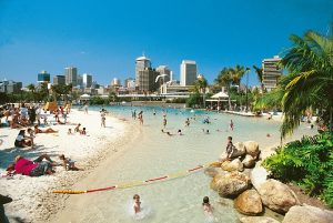 Street beach à Brisbane en Australie