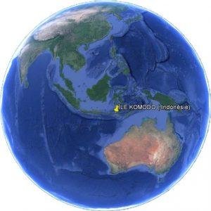 Île Komodo situation dans le monde