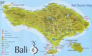 Croisière tour du monde carte de Bali