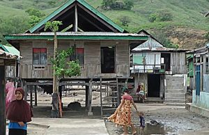 Maison style Panggung à Kampung Komodo Village Komodo Island