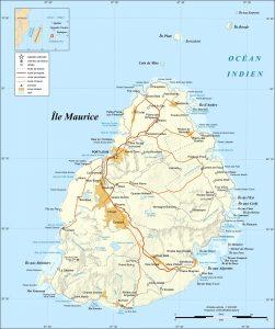 Croisière tour du monde Carte de Île Maurice