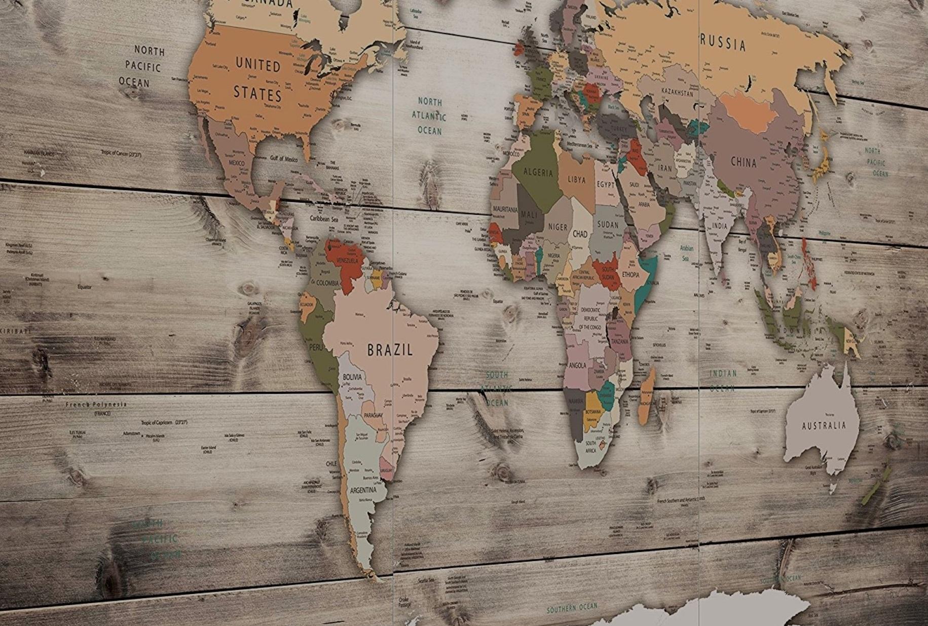Croisière tour du monde fond de carte antique