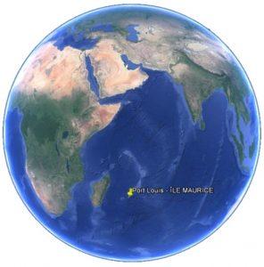 Croisière tour du monde Position Port Louis - Ile Maurice