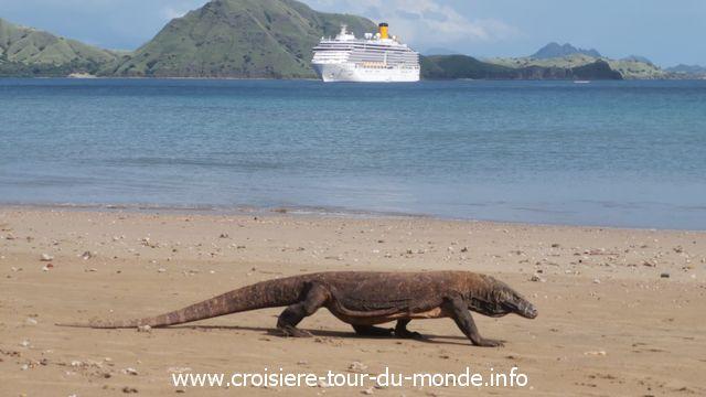 Croisière tour du monde escale à Komodo Island